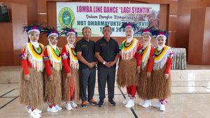 Lomba Line Dancing dalam rangka memperingati HUT Dharmayukti Karini XVII Tahun 2019
