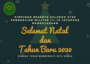 UCAPAN SELAMAT NATAL DAN TAHUN BARU 2020