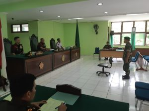 SIDANG PUTUSAN PADA PENGADILAN MILITER III-19 JAYAPURA