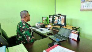 Wawancara oleh Tim Penilai Ditjen Badilmiltun dalam rangka Pelaksanaan Tahap II Lomba Pelayanan Peradilan di Lingkungan Peradilan Militer secara daring.