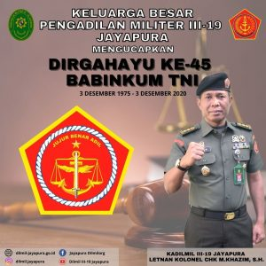 DIRGAHAYU KE-45 BABINKUM TNI