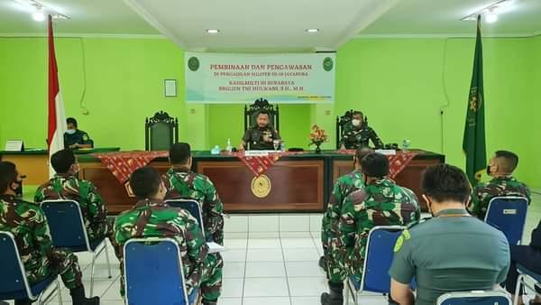 Pembinaan dan Pengawasan Oleh Kadilmilti III Surabaya Brigjen TNI Hulwani, S.H., M.H. beserta Tim